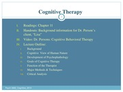 Test 3- Cognitive Therapy