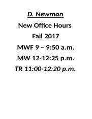 New Fall 2017 Office Hours.docx