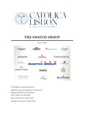 The swatch GROUP.docx