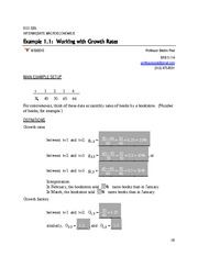 Lecture 2 Example 1.1 -- Working with Growth Rates -- Solved