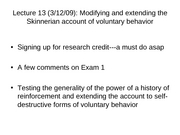 Lec13 Voluntary Behavior 2