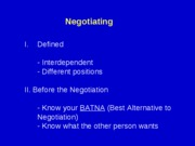 Negotiating (revised Spring 05)