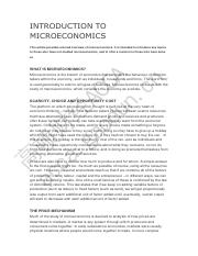 4 INTRODUCTION TO MICROECONOMICS
