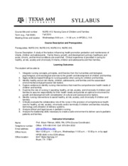 NURS 413 Syllabus Fall 2015 TAMU template(1)