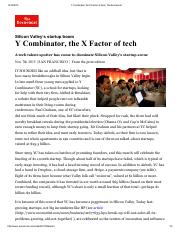 Y Combinator, the X Factor of tech _ The Economist