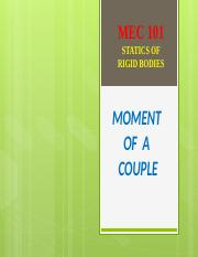 6 - MOMENT OF A COUPLE