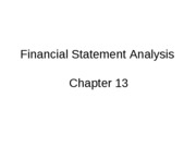 Mgmt 200 Spring 2010 Chap 13 Financial Statement Analysis