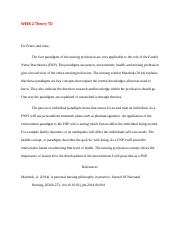 Essays On Science And Technology  Pages Nr Theoryweek  Tdnursing Paradigms In The Profession Custom Essay Paper also Simple Essays For High School Students Nur Nr   Theoretical Basis Adv Nursing  Chamberlain College Argumentative Essay Thesis
