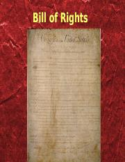 MY BILL OF RIGHTS