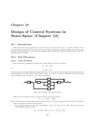 Chapter10 Design of Control Systems in