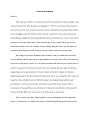 Letter of Introduction (Learning Unit 1 Assignment)