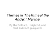 Themes in The Rime of the Ancient Mariner