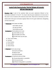 "Important_Practice_Reasoning_Questions_""Work_Book""_(Syllogism_with_Explanation)-www.ibpsguide"