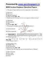 RRB Section Engineer Question Paper 1.pdf