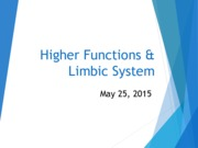 Higher Functions and Limbic System