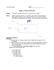 m. Binary to Base 10 Decoder Lesson