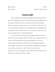 candide essay danea cosgrove candide and the restless american 1 pages gandhi essay