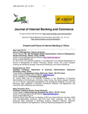 Present and Future of Internet Banking in China