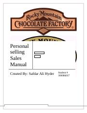 Personal selling Sales Manual final final version