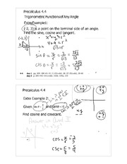 trignometric functions notes