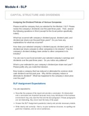 SLP - FIN501 Strategic Corporate Finance (NOV2015FT-1)