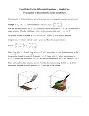 Math 320 Discontinuity Propagation Notes