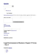 Legal Environment of Business Chapter 9 Terms