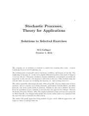 Gallager R.G. Stochastic Processes Theory for Applications Solutions Manual