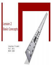 Basic Concepts Lecture 51611 Guided Notes