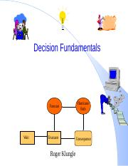 IMSE5205_Weeks 5_Decision Fundamentals