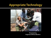 APSC 150 Lect 1-3 Part II Appropriate technology