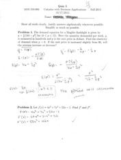 quiz 5: application of first derivative