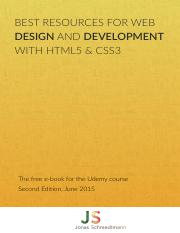Course E Book Udemy V2 0 Pdf Best Resources For Web Design And Development With Html5 Css3 The Free E Book For The Udemy Course Second Edi7on June Course Hero
