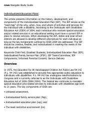 Individualized Education Plans Research Paper Starter - eNotes
