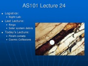 AS101 Lecture 24