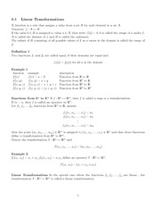 Math 120 Linear Transformation Notes