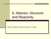 6. Alkenes_Structure and Reactivity