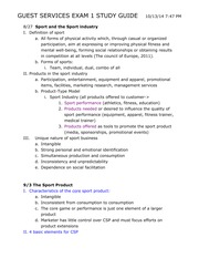 GUEST SERVICES EXAM 1 STUDY GUIDE