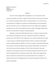 legalization in conclusion marijuana is a very useful drug and  5 pages marijuana legalization essay 5