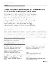 Naming and outline of Dothideomycetes–2014 including proposals for the protection or suppression of