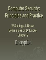 Encryption ppt - Computer Security Principles and Practice W