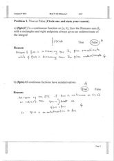 model solutions exam 1 w 2013