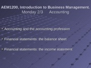 2-3 Accounting and Financial Statements