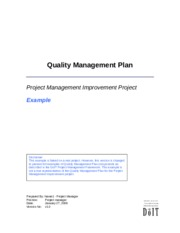 3.3.2 Example - Quality Management Plan, v1.0 .1