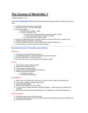 Causes of WWI Notes.pdf
