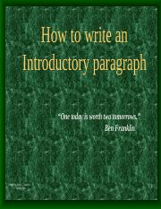 Introductory Paragraphs.ppt