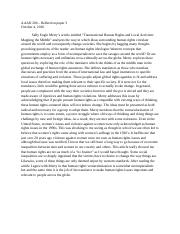 Gender and sexuality reflection paper