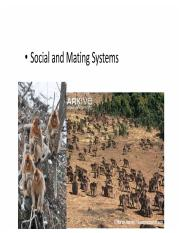 4- Social _ Mating Systems 1 ppt