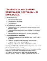 Tannenbaum and Schmidt behavioural continuum – In More Detail
