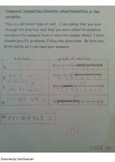 Compound Inequalities Test